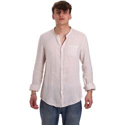 Textiel Heren Overhemden lange mouwen Gaudi 011BU45001 Beige