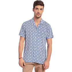 Textiel Heren Overhemden korte mouwen Gaudi 011BU45046 Blauw