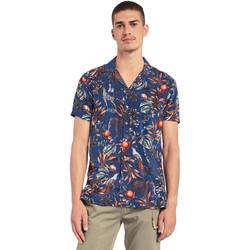 Textiel Heren Overhemden korte mouwen Gaudi 011BU45047 Blauw