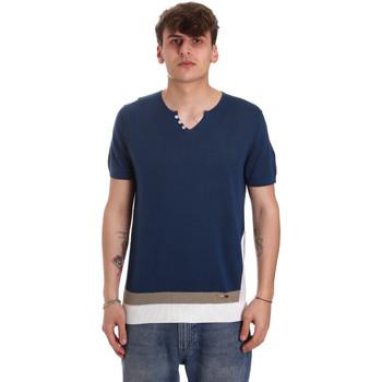 Textiel Heren T-shirts korte mouwen Gaudi 011BU53021 Blauw