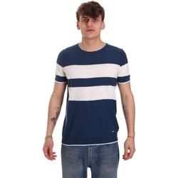 Textiel Heren T-shirts korte mouwen Gaudi 011BU53023 Blauw