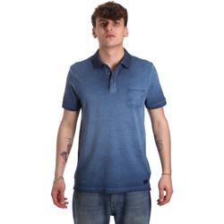 Textiel Heren Polo's korte mouwen Gaudi 011BU64017 Blauw