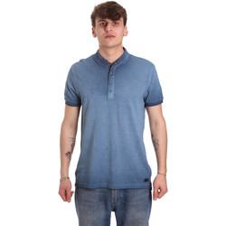 Textiel Heren Polo's korte mouwen Gaudi 011BU64018 Blauw