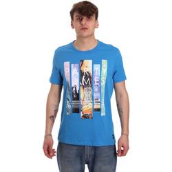 Textiel Heren T-shirts korte mouwen Gaudi 011BU64028 Blauw