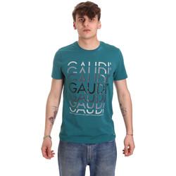 Textiel Heren T-shirts korte mouwen Gaudi 011BU64068 Groen