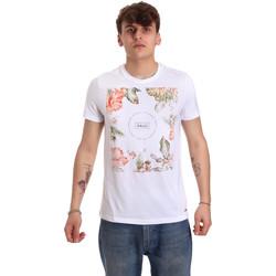 Textiel Heren T-shirts korte mouwen Gaudi 011BU64070 Wit
