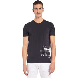 Textiel Heren T-shirts korte mouwen Gaudi 011BU64071 Zwart