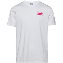 Textiel Heren T-shirts korte mouwen Diadora 502175837 Blanc