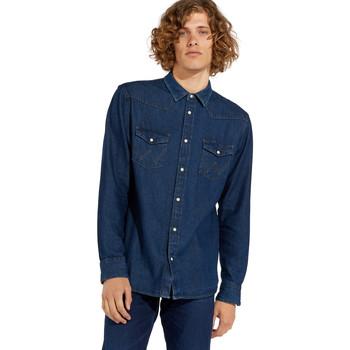 Textiel Heren Overhemden lange mouwen Wrangler W5MSLW301 Blauw