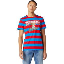 Textiel Heren T-shirts korte mouwen Wrangler W7E1FKXKL Blauw
