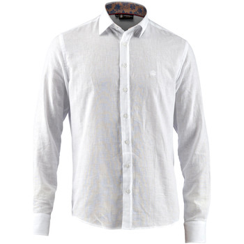 Textiel Heren Overhemden lange mouwen Lumberjack CM80846 001 603 Wit