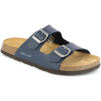 Schoenen Heren Leren slippers Grunland CB3013 Blauw
