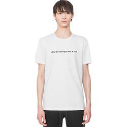 Textiel Heren T-shirts korte mouwen Antony Morato MMKS01754 FA100144 Wit