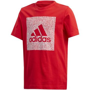 Textiel Kinderen T-shirts korte mouwen adidas Originals FM4489 Rood