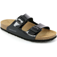 Schoenen Dames Leren slippers Grunland CB1035 Zwart