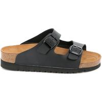 Schoenen Dames Leren slippers Grunland CB2445 Zwart