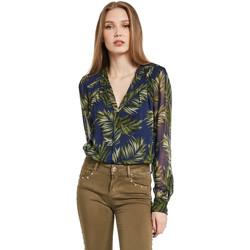 Textiel Dames Overhemden Gaudi 011BD45018 Blauw