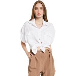 Textiel Dames Overhemden Gaudi 011BD45030 Wit