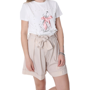 Textiel Dames Korte broeken / Bermuda's Fracomina FR20SP150 Beige