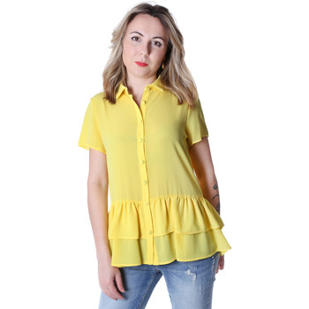 Textiel Dames Overhemden Fracomina FR20SP039 Geel