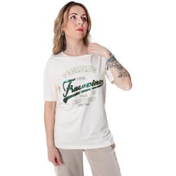 Textiel Dames T-shirts korte mouwen Fracomina FR20SP305 Wit
