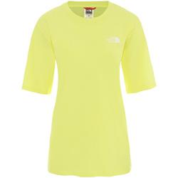 Textiel Dames T-shirts korte mouwen The North Face NF0A4CESVC51 Jaune