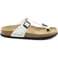 Schoenen Dames Slippers Grunland CB0025 Wit