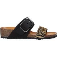 Schoenen Dames Leren slippers IgI&CO 5198244 Zwart
