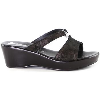 Schoenen Dames Leren slippers Susimoda 173643 Grijs