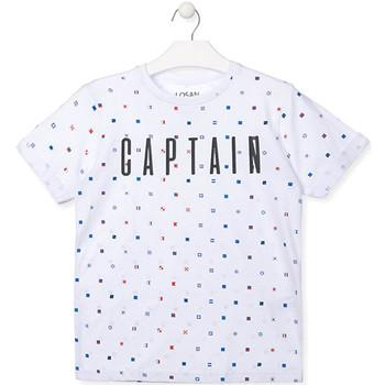 Textiel Jongens T-shirts korte mouwen Losan 013-1001AL Wit