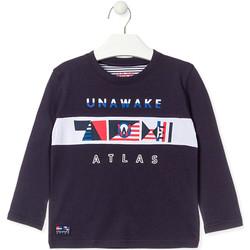 Textiel Jongens T-shirts met lange mouwen Losan 015-1002AL Blauw