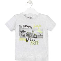 Textiel Kinderen T-shirts korte mouwen Losan 015-1010AL Grijs