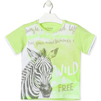 Textiel Kinderen T-shirts korte mouwen Losan 015-1011AL Groen