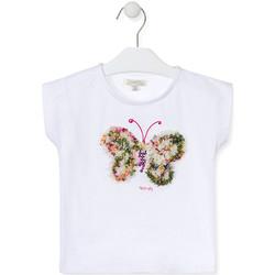 Textiel Meisjes T-shirts korte mouwen Losan 016-1790AL Wit