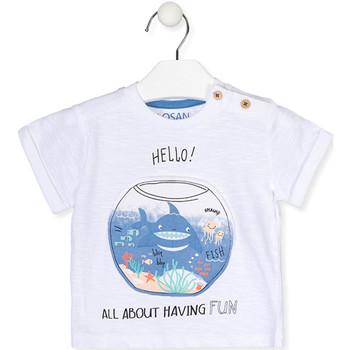 Textiel Meisjes T-shirts korte mouwen Losan 017-1000AL Wit