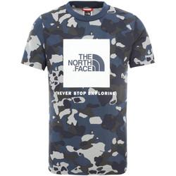 Textiel Kinderen T-shirts korte mouwen The North Face NF0A3BS2M7Z1 Blauw