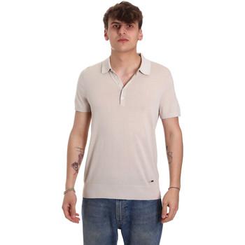 Textiel Heren Polo's korte mouwen Gaudi 011BU53011 Beige