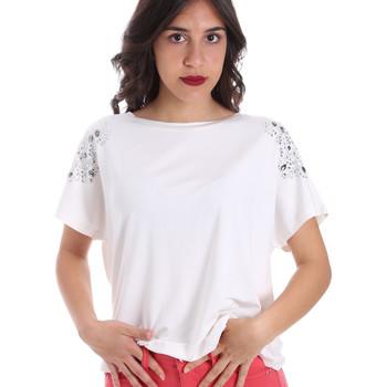 Textiel Dames T-shirts korte mouwen Gaudi 011FD64022 Wit