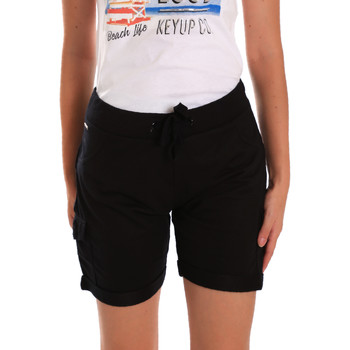 Textiel Dames Korte broeken / Bermuda's Key Up 5G75F 0001 Zwart