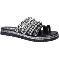 Schoenen Dames Leren slippers Gold&gold A18 ES286 Zwart