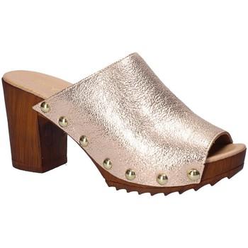 Schoenen Dames Leren slippers Keys 5868 Rose