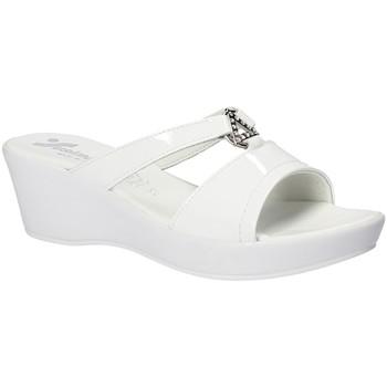 Schoenen Dames Leren slippers Susimoda 173643 Wit