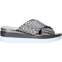Schoenen Dames Leren slippers Valleverde 32140 Argent