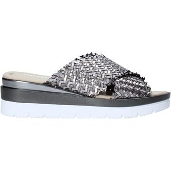 Schoenen Dames Leren slippers Valleverde 32140 Grijs