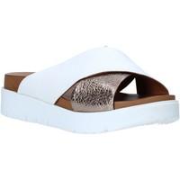 Schoenen Dames Leren slippers Bueno Shoes N3408 Wit