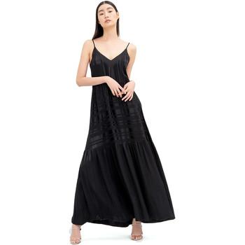 Textiel Dames Lange jurken Fracomina FR20SM546 Zwart