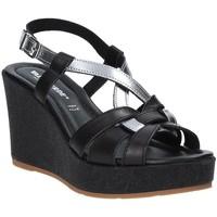 Schoenen Dames Sandalen / Open schoenen Valleverde 32404 Zwart