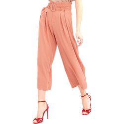 Textiel Dames Losse broeken / Harembroeken Fracomina FR20SM644 Roze