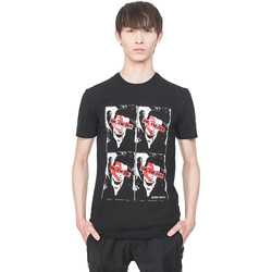 Textiel Heren T-shirts korte mouwen Antony Morato MMKS01743 FA120001 Zwart
