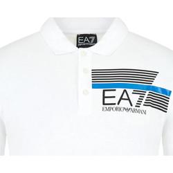 Textiel Heren Polo's korte mouwen Ea7 Emporio Armani 3HPF17 PJ02Z Wit